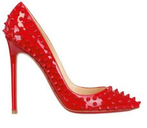 Christian Louboutin Pigalle 120 Spiked Patent Leather Pump | Photo Credit: Lyst.com